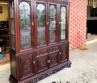 tủ bày đồ tứ quý gỗ gụ